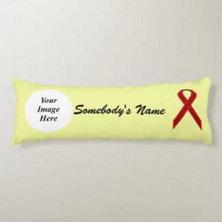 Burgundy Standard Ribbon Template Body Pillow