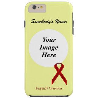 Burgundy Standard Ribbon Tmpl by Kenneth Yoncich Tough iPhone 6 Plus Case