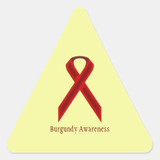 Burgundy Standard Ribbon Triangle Sticker