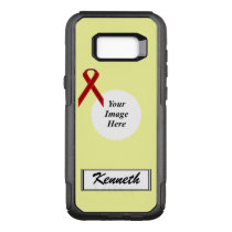 Burgundy Stnd Ribbon Template by Kenneth Yoncich OtterBox Commuter Samsung Galaxy S8  Case