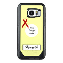 Burgundy Stnd Ribbon Template by Kenneth Yoncich OtterBox Samsung Galaxy S7 Edge Case