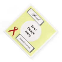 Burgundy Stnd Ribbon Template by Kenneth Yoncich Paper Dinner Napkin