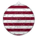 Burgundy Stripes Dart Boards