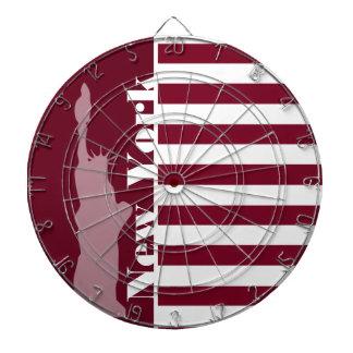 Burgundy Stripes; New York Dartboards