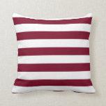 Burgundy Stripes Pillow