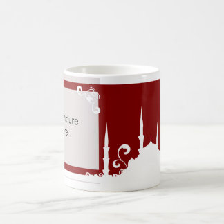 Burgundy Swirl Mosque Photo Mug
