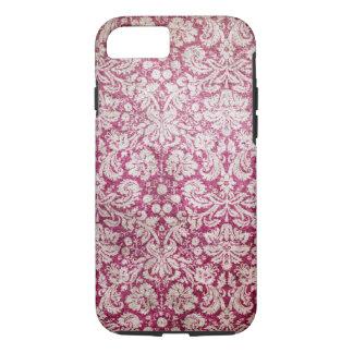 Burgundy Vintage Damask iPhone 8/7 Case