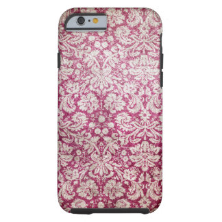 Burgundy Vintage Damask Tough iPhone 6 Case