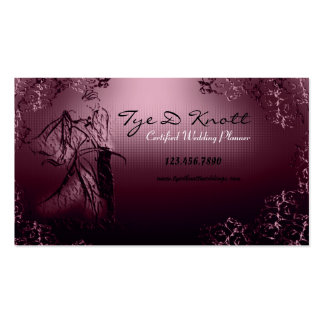 Burgundy Vintage Wedding Planner Business Card