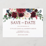 "Burgundy Watercolor Floral Save the date<br><div class=""desc"">Burgundy Watercolor Floral Save the date for wedding.