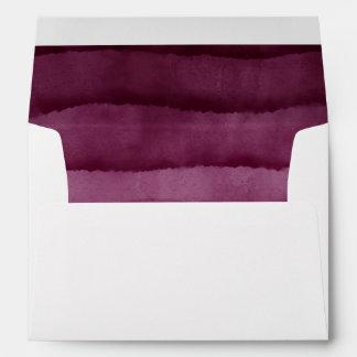 Burgundy Watercolor Wedding Envelope