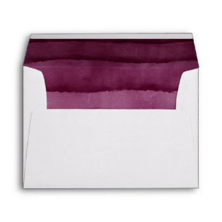Burgundy Watercolor Wedding Envelope