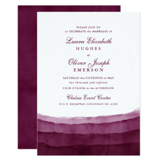 Burgundy Watercolor Wedding Invitations