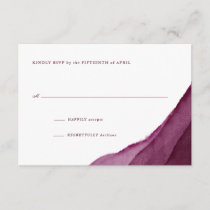 Burgundy Watercolor Wedding RSVP