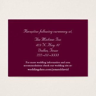 Burgundy Wedding enclosure cards