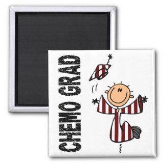 Burgundy & White CHEMO GRAD 1 (Head & Neck Cancer) 2 Inch Square Magnet