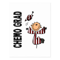 Burgundy & White CHEMO GRAD 1 (Head & Neck Cancer) Postcard