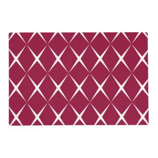 Burgundy White Diamond Pattern Placemat