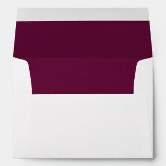 Burgundy White Invitation Envelope