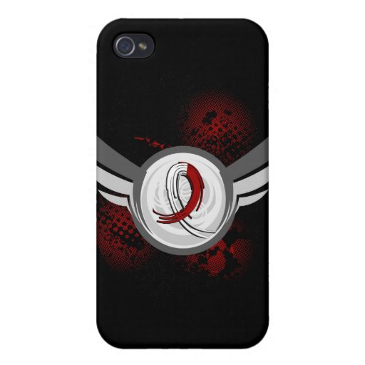 Burgundy White Ribbon Wings Head Neck Cancer iPhone 4/4S Covers
