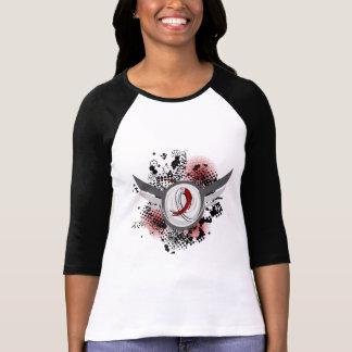 Burgundy White Ribbon Wings Head Neck Cancer T-Shirt