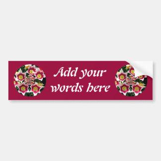 "Burgundy & White Tulips w/ ""feedback"" effect Bumper Sticker"