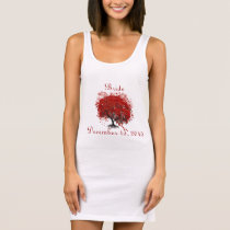 Burgundy Wine Heart Leaf Tree Wedding T-Shirts