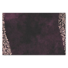 Burgundy Wine & Rose Gold Confetti Wedding Tissue Paper
