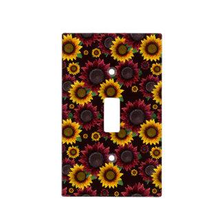 Burgundy & Yellow Sunflowers Light Switch Cover