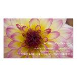 Burgundy, Yellow & White Dahlia Business Card Template