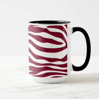 Burgundy Zebra Animal Print; Retro Chalkboard Mug