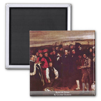 Burial At Ornan By Courbet Gustave 2 Inch Square Magnet