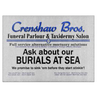 Burial at Sea Cutting Board
