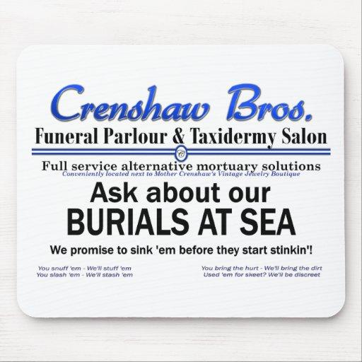 Burial At Sea Mouse Pad