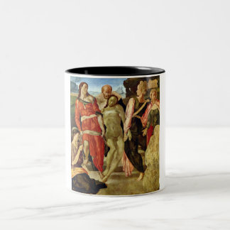 Burial by Michelangelo Two-Tone Coffee Mug