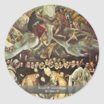 Burial Of Count Orgaz By Greco El Round Stickers