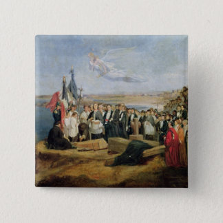 Burial of the Vicomte de Chateaubriand Button