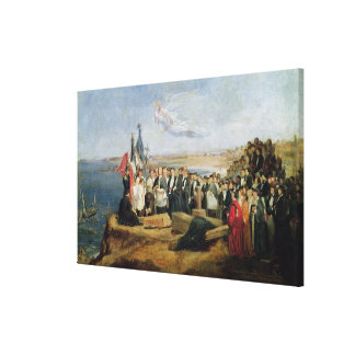 Burial of the Vicomte de Chateaubriand Canvas Print