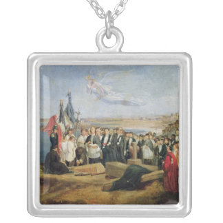 Burial of the Vicomte de Chateaubriand Silver Plated Necklace