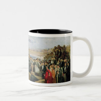 Burial of the Vicomte de Chateaubriand Two-Tone Coffee Mug