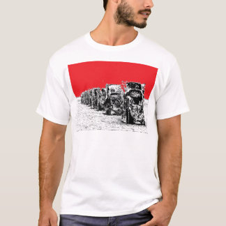 Buried Cadillacs with Red Sky T-Shirt