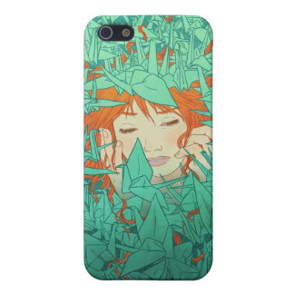 Buried in Origami illustrated iphone case Cover For iPhone 5/5S