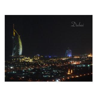 Burj Al Arab at night, Dubai - Postcard