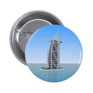 Burj Al Arab Hotel Dubai: 3D Model: 2 Inch Round Button
