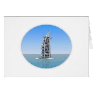 Burj Al Arab Hotel Dubai: 3D Model: Greeting Card
