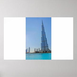 Burj Khalifa and Dubai Fountain - Photo Print