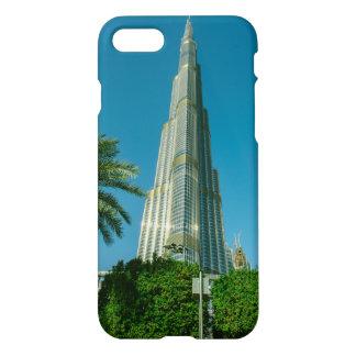 Burj Khalifa, Dubai and palm trees iPhone 8/7 Case