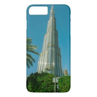Burj Khalifa, Dubai and palm trees iPhone 8 Plus/7 Plus Case