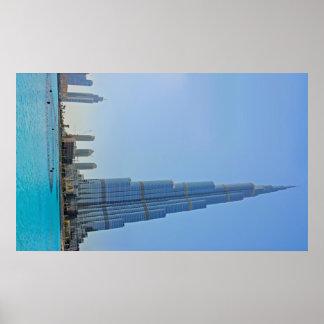 Burj Khalifa & Dubai Fountain Photograph Poster