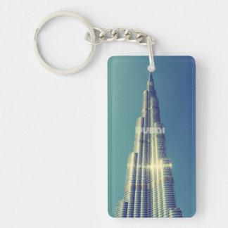 Burj Khalifa, Dubai Llavero Rectangular Acrílico A Una Cara
